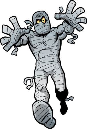 outstretched: Mad Cartoon Mummy Waking Towards You
