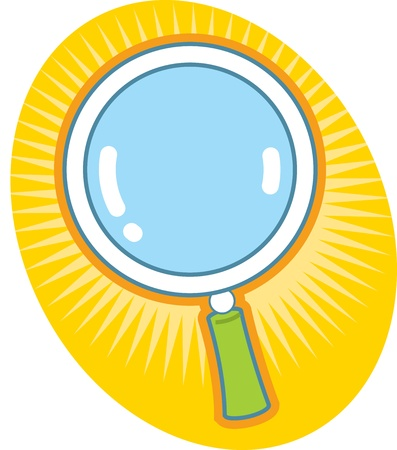 Magnifying Glass Icon Ilustrace