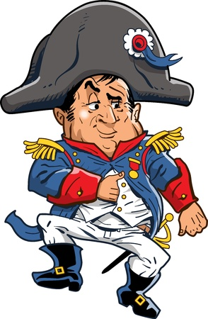 Cartoon Illustration of Napoleon