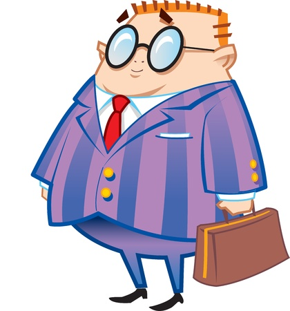 Nerdy Businessman Accountant Lawyer Ilustracja