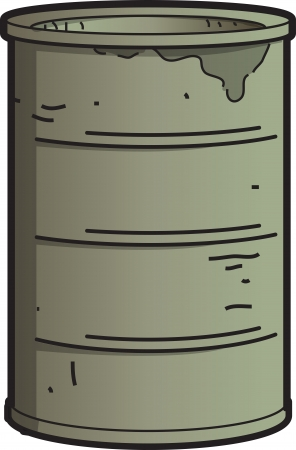 Dirty Rusty Industrial Oil Barrel Vector