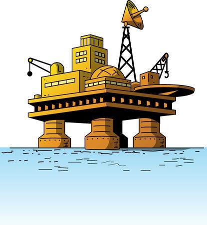 Oil Rig oder Oil Platform Standard-Bild - 20685847