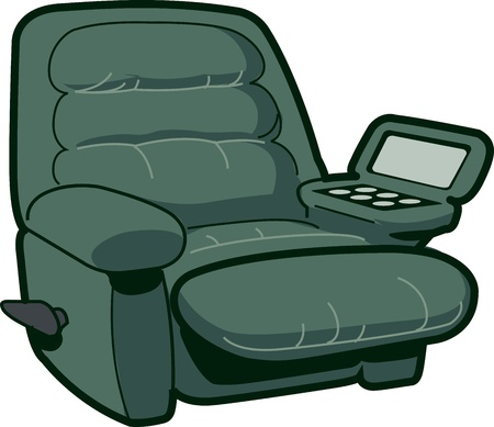 recliner: Reclining Chair Illustration