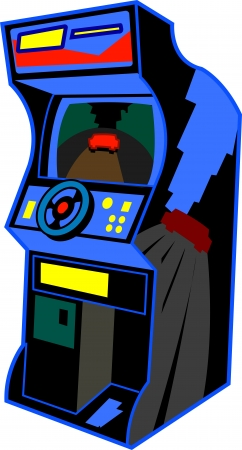 video games: Retro Arcade Video Game Illustration Illustration