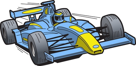 Speeding Race Car Illustration