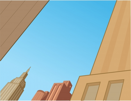 City Sky Scene Background for Superhero Comics and Animation Vector