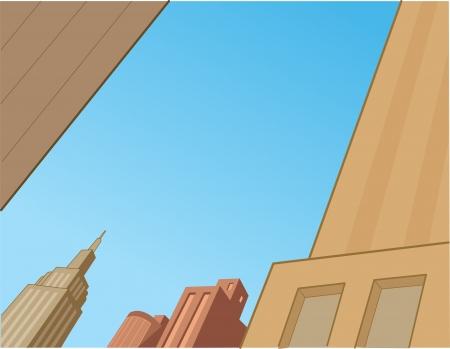 city: Sky City Escena Antecedentes para los tebeos de superhéroes y animación