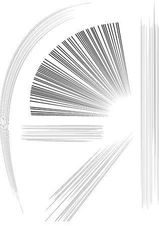 Speed Lines graphic effects for use in comic books, manga and illustration Stock Illustratie