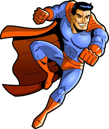 Superhero vector clipart punch. Illusztráció