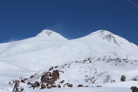 two on top: Two top of the Elbrus