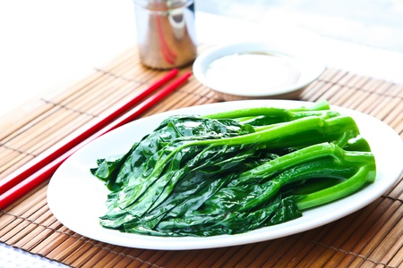 green cabbage: Chinese Broccoli Stock Photo