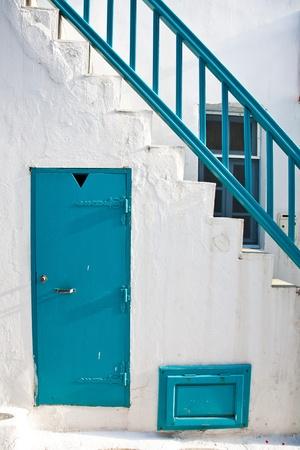 stucco facade: Greek Details Stock Photo