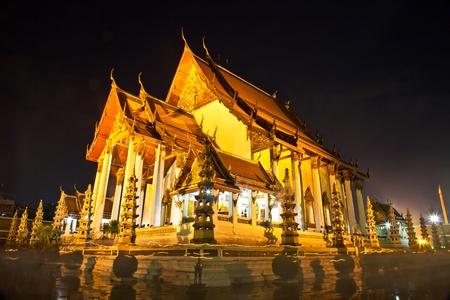 thai believe: Wat Sutat in Bangkok,Thailand
