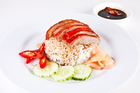 Roasted Duck with rice1 Stock Photo - 10700856