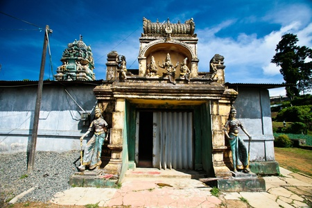 Hindi temple at Nuwara Eliya of Sri Lanka photo