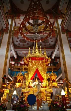 trone: Interior at Wat Nongwang