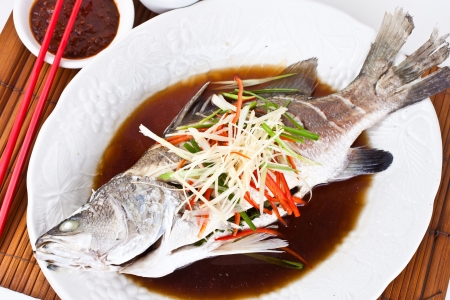 steamed: Steamed Snapper with Soy Sauce1