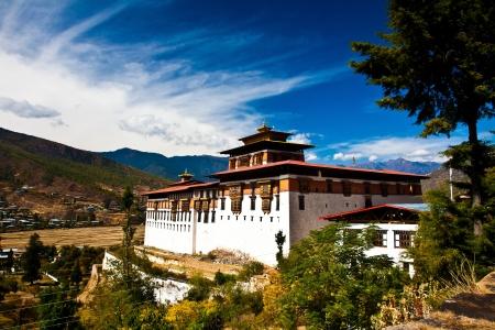 Bhutan: Paro Dzong1 Stock Photo