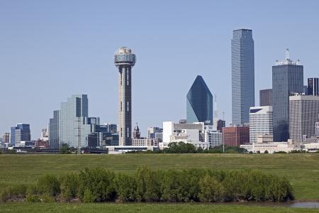 米国テキサス州、ダラスのスカイラインの眺め