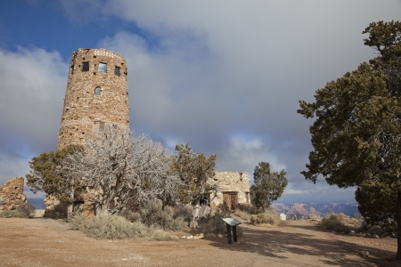 Grand Canyon Watchtower at the Desert View Overlook, Arizona,