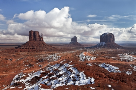 Desert and the Red Rocks of the Navajo National Monument Valley, Utah, USA