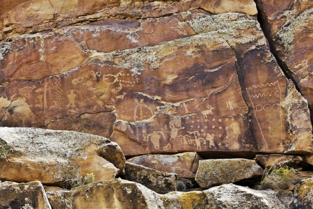 Native American Rock Art Petroglyphs – First Site at Nine Mile Canyon, UT
