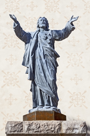 sacred heart: Statue of Jesus Christ
