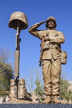 アメリカの兵士の像 写真素材