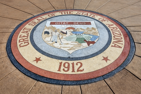 Great Seal of the State of Arizona 1912 at Arizona State Capitol, Phoenix