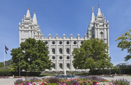 Mormon Temple - The Salt Lake Temple, Utah Stock Photo