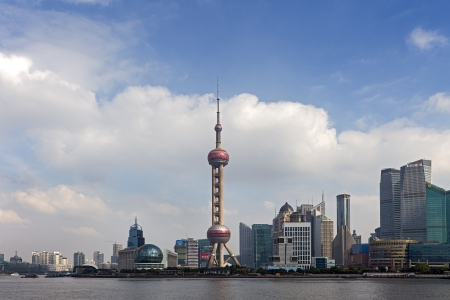 pudong district: A View of Pudong in Shanghai, China