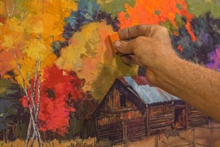 オリジナルの手絵画パステル アーティストによって描かれたアートが