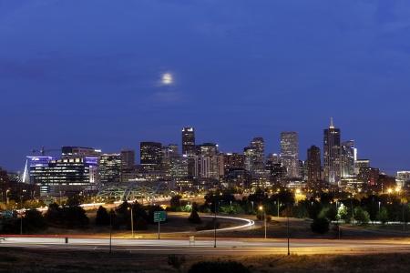 denver: Denver Skyline at Night, Colorado