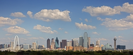A View of the Skyline of Dallas, Texas, USA