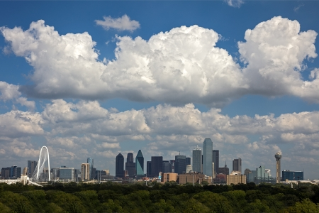 A View of Skyline Dallas at Sunny Day, Texas, USA