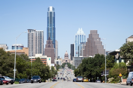 A View of the Skyline Austin at Texas, USA Editorial