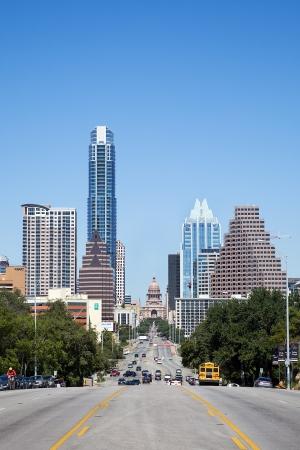 テキサス州、アメリカ合衆国でスカイライン Austin のビュー 報道画像