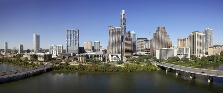 texas state: A View of the Skyline Austin at Sunny Day in Texas