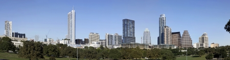 A Panorama View of the Skyline Austin in Texas photo