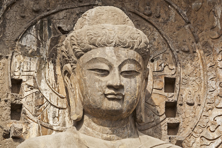 A shot of Chinese Buddha Statue in China photo