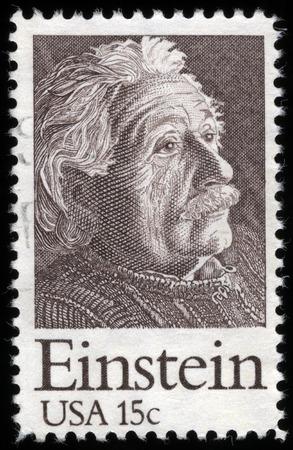 Albert Einstein Postage Stamp, circa 1970's Editorial