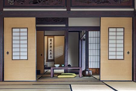 japanese tea garden: Traditional Japanese Tea Room Stock Photo