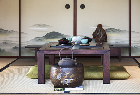 伝統的な日本のダイニング ルーム 写真素材