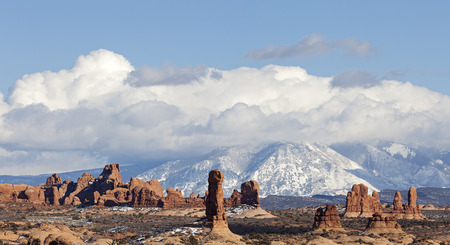 A View of Arches National Park in Moab, Utah  Stock Photo - 27954065