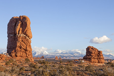 ut: A View of Arches National Park in Moab, Utah