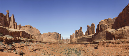 A View of Park Avenue at Arches National Park, Utah Stock Photo - 28031118