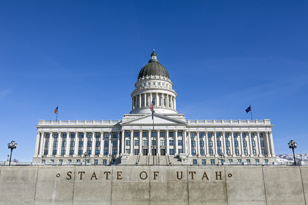 capital building: State Capitol of Utah, Salt Lake City Stock Photo