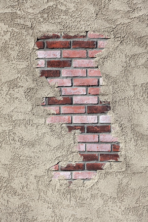 mottle: Stucco and Brick Wall Texture Stock Photo