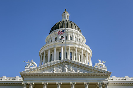 california state: Capitol Building in Sacramento, California Stock Photo