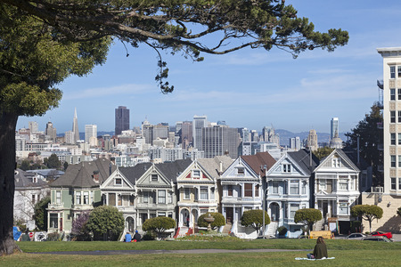 Victorian Houses Painted Ladies in San Francisco, California